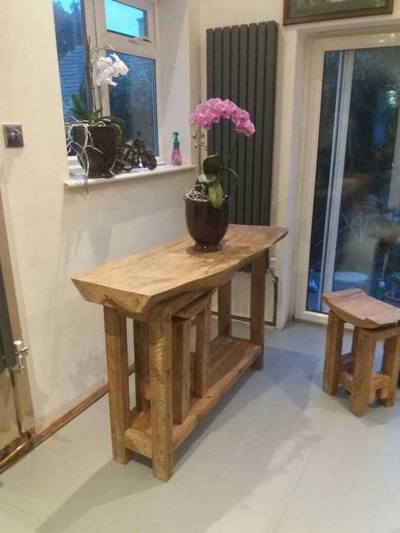 Stand Alone Breakfast Bar With Two Stools Etsy
