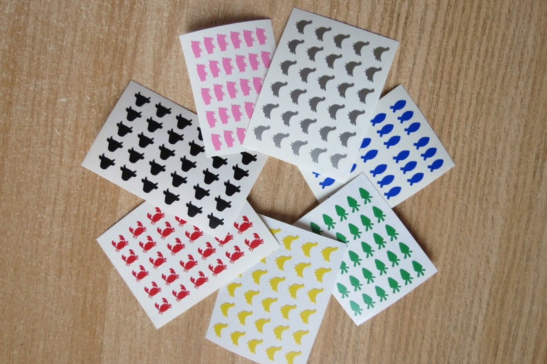 Food choice sticker,Table stickers size 0.3 set of 30 meal decal   Meal StickersSeals very small Wedding Meal Stickers