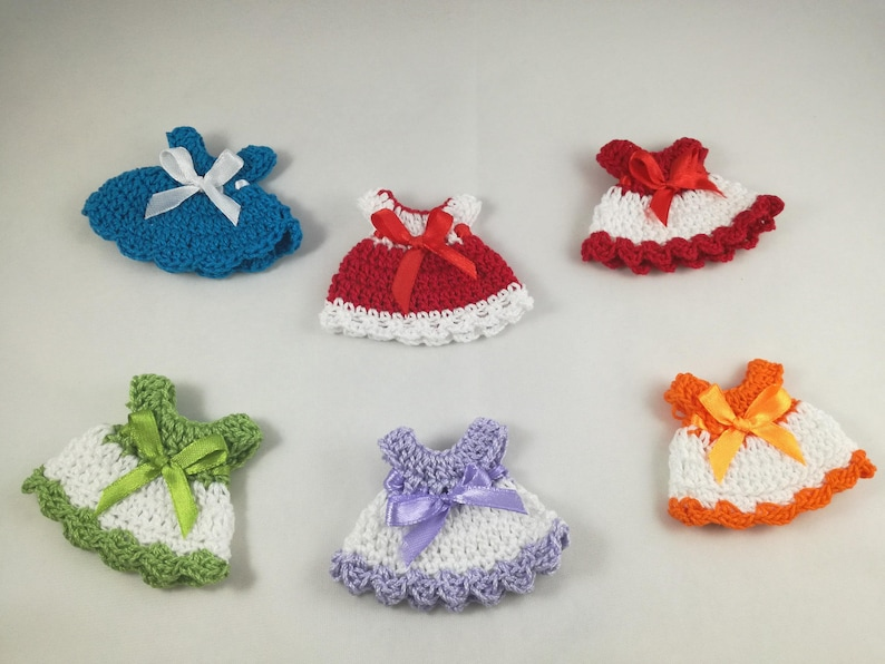 Mini Dress Crochet Wedding Favor Baptism Birth Etsy