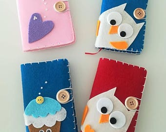 Notebook covered with Felt