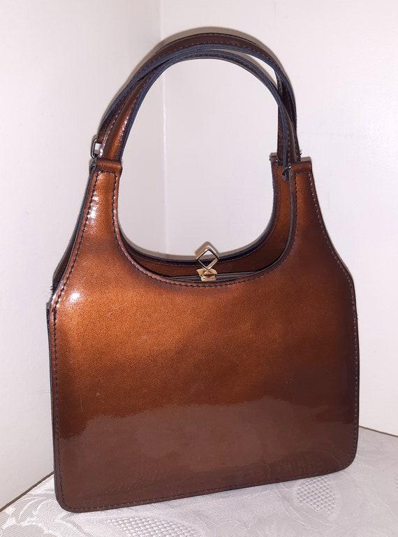 Vintage Pexella copper bronze patent leather class