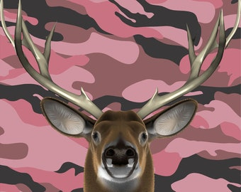 Pink deer buck hunter hunting camouflage Cornhole board game decal wraps