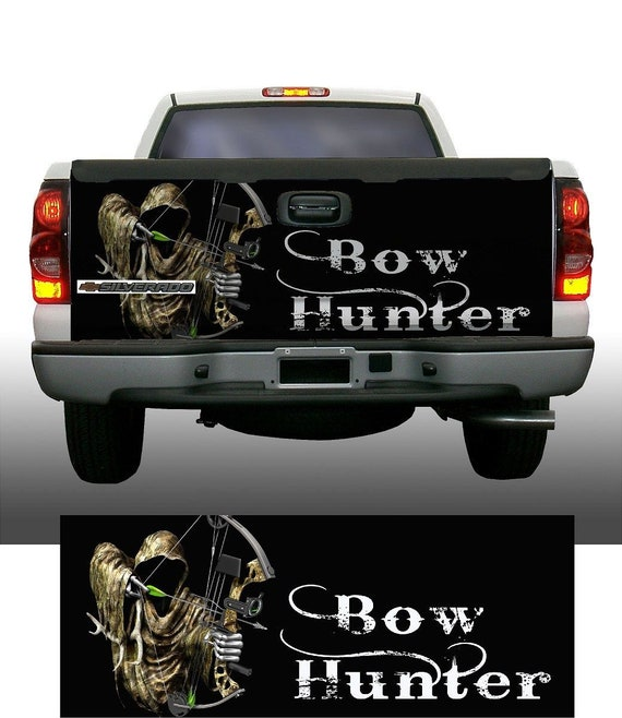 Pink snow camo grim reaper bow hunting Hood Wrap Sticker Vinyl Decal Graphic
