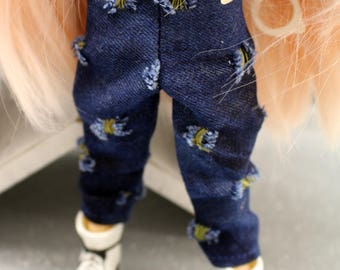 Funky jeans for Blythe Doll