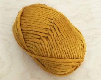 Super Chunky Merino Yarn - MUSTARD - 100 gram ball