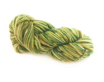 Midnight Weave Co Hand Dyed Yarn - Aran weight merino superwash wool - One Mini Skein (at least 35g each) - LUSH GREEN