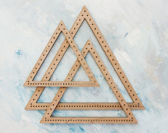 The Original Triangle Loom - (Set of 3 frame looms) + FREE Triangle Loom ebook class by Hello Hydrangea