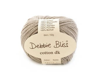 Debbie Bliss - Cotton DK - One ball of cotton yarn (50 grams) - Putty - Colour: 13019