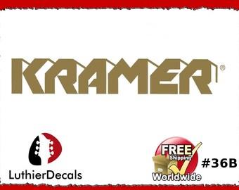 ee68b77692e Kramer Guitar Headstock Decal Waterslide Decal Logo  36b