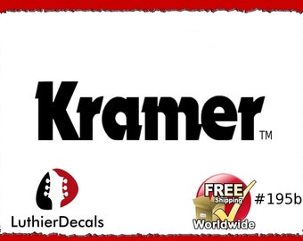 b0eae167ef9 Kramer Guitar Decal Headstock Restoration Waterslide logo  195b