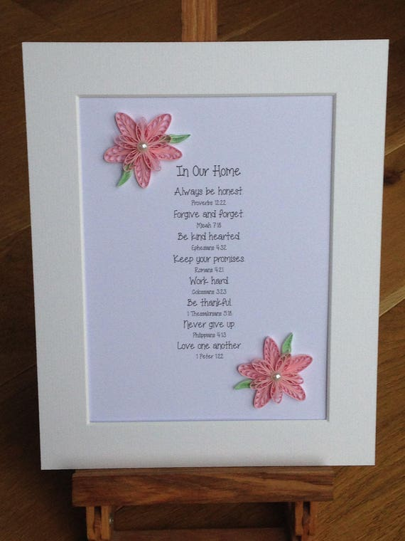 Bible verses quilled flowers decorated bible verses quilled etsy image 0 m4hsunfo