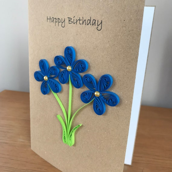 Quilled Bold Flower Birthday Card