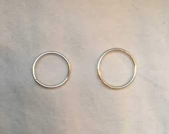 Sterling Silver Continuous Ring (Cartilage or Nose Piercing)