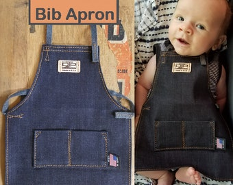 DJKids Blue Jean Baby Apprentice Bib Apron