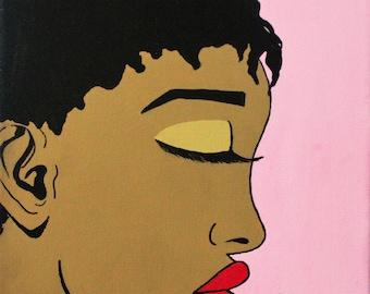 Pop Art/ Comic Style Canvas Painting