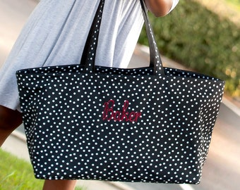 9955e8e3976 Monogrammed Tote Bag Monogram. Personalized Gifts for her