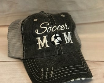 e4725c5aa78 Soccer Mom  Soccer Mom Hat  Soccer Hat  Sports Mom  Gifts for her  Mom  Gift  Soccer Mom Gift  Mom Hat  Distressed Hat  Baseball Mom  Basketb