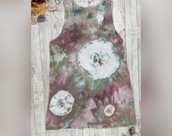 af34697bccd5 Custom Tie Dye Tank Top (Loose Fit) ~ Choose Your Own Colors   Design ~  Safe for Fire Performers