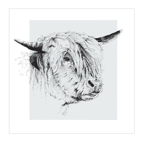 PERSONALISED HIGHLAND CATTLE BULL FARMING BIRTHDAY FATHERS DAY ANY OCCASION CARD