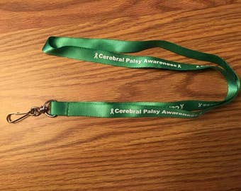 Cerebral Palsy Awareness Lanyards