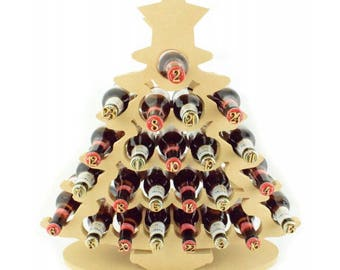 Adult Advent Calendar, Beer Advent calendar, Wine Advent Calendar, wooden advent calendar, tree advent calendar