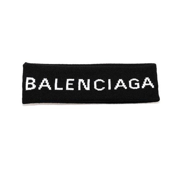 Balenciaga Designer Headband Sweatband Black  a3cb8be8f24