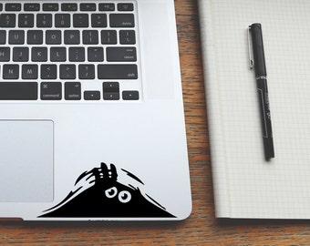 Stickers Macbook, Macbook Air Decals, Peeking Monster, Monster Decal, Laptop Sticker, Laptop Decal, Yeti Decal, Stickers For Laptop,  128