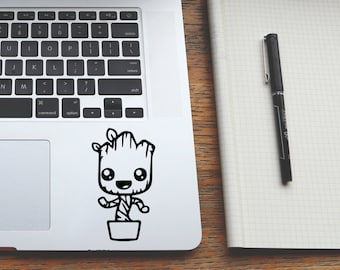 Baby Groot, Groot Sticker, Laptop Stickers, Guardians Of The Galaxy, Macbook Decal, Groot, Macbook Air Sticker, Laptop Decal, Gift Decal, 79