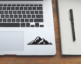 Mountain Decal, Sticker Mountain, Laptop Sticker, Macbook Decal, Car Sticker, Mountain Monogram, Keypad Decal, Iphone Decal, 43