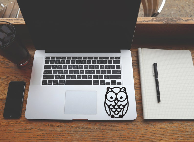 Owl Decal Best Friend Gift Bird Macbook Decal Laptop image 0