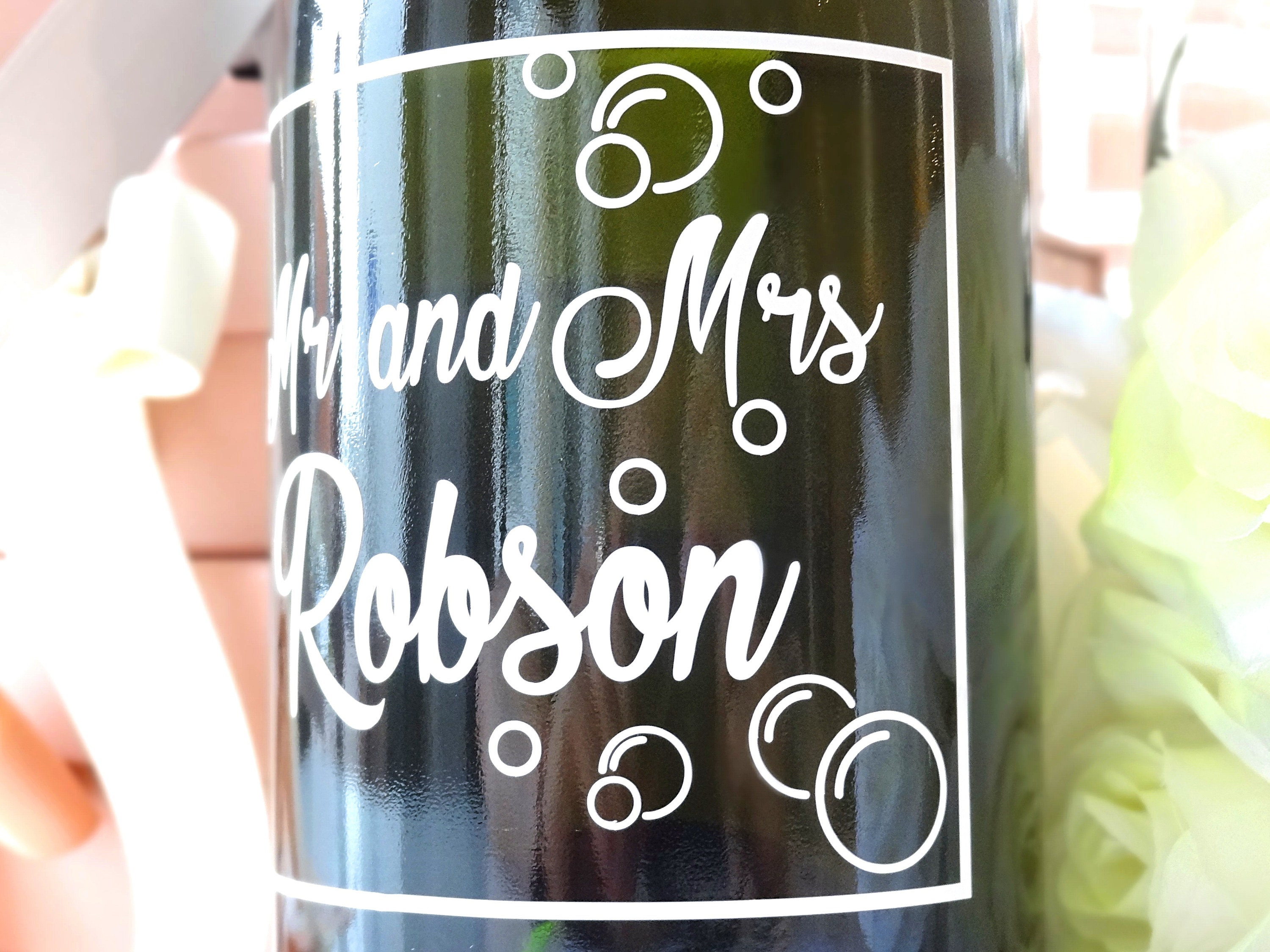 Personalized sticker custom bottle decal wedding favor party decor mr and mrs bottle tag wedding stickers hen party bridal shower
