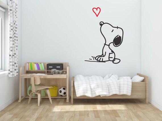 Snoopy Sticker Mural Les Enfants Chambre Sticker Art Mural