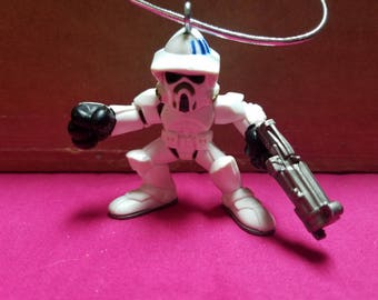 Star wars LFL Hasbro Galactic Heroes 2009 Speeder bike trooper  figure ornament decoration Star Wars