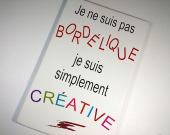 "Brand ""creative"" wood sign for artisan, Studio decor"