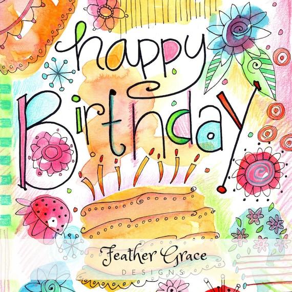 Watercolor Clipart Birthday Watercolor Clip Art Etsy