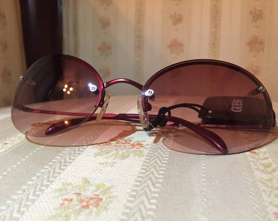 Vintage 90's Guess Rose Colored NOS Sunglasses
