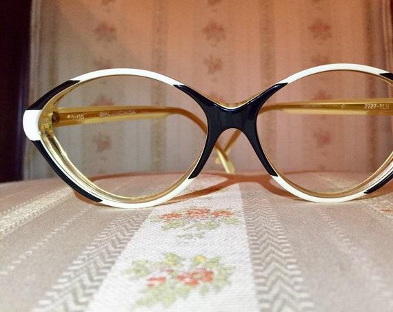 Vintage 70's Balenciaga White and Black Frames/Glasses