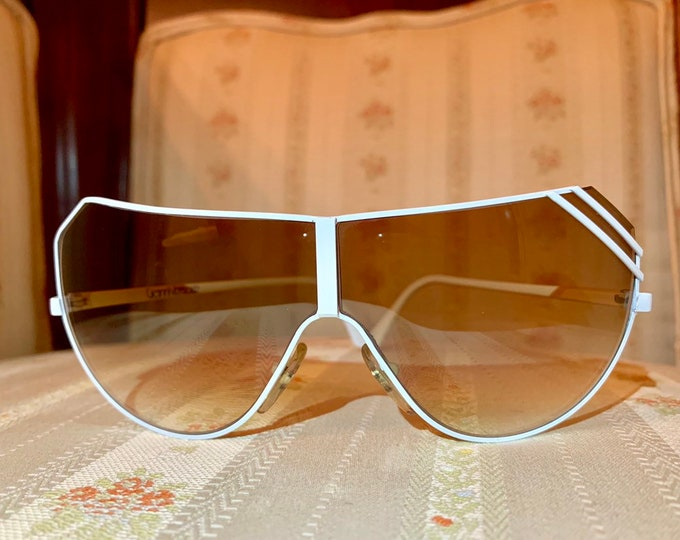 Vintage 80's Gianni Versace White Aviator Sunglasses
