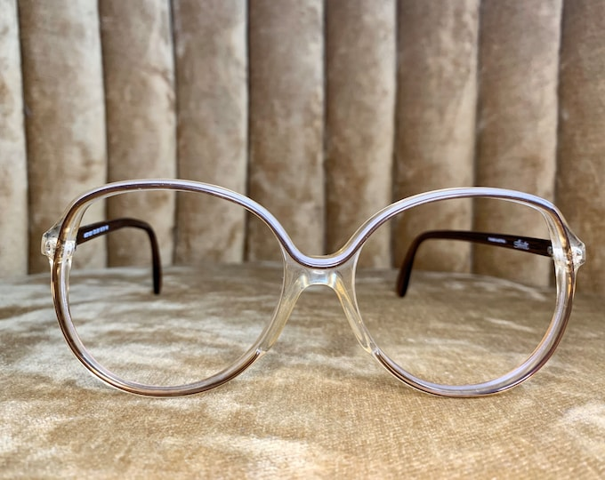 Vintage 70's Silhouette Brown and Cream Glasses Frames