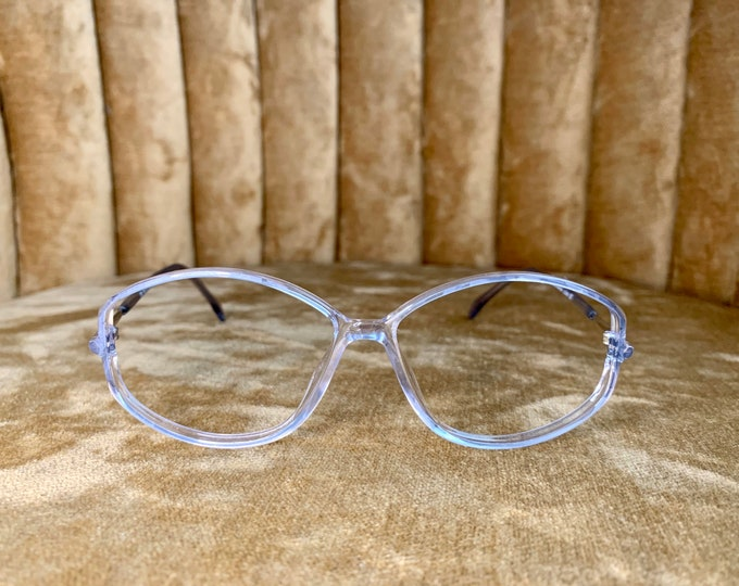 Vintage 80's Silhouette Ice Blue Glasses Frames