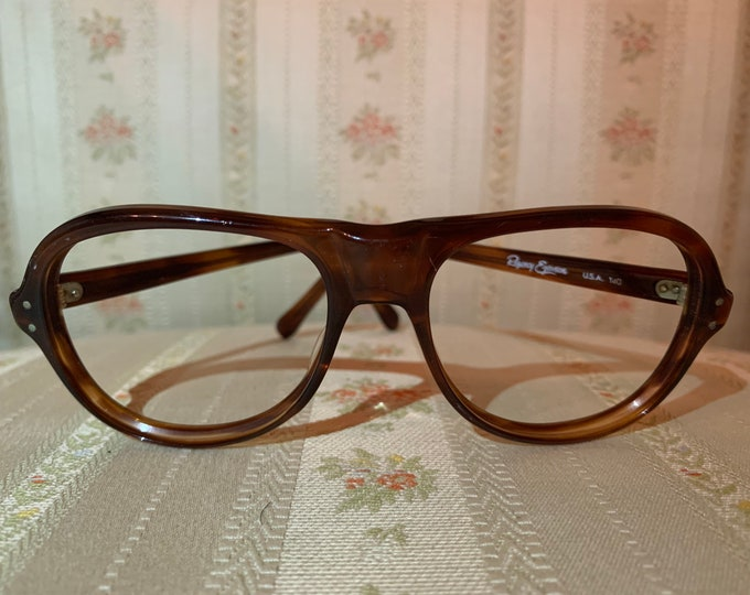 Vintage 70's Regency Eyewear Dark Brown Glasses Frames