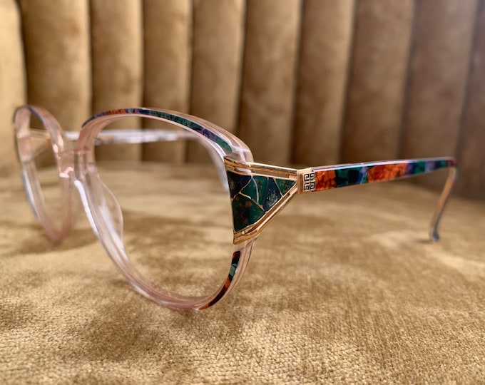 Vintage 80's Givenchy Multicolor Glasses Frames