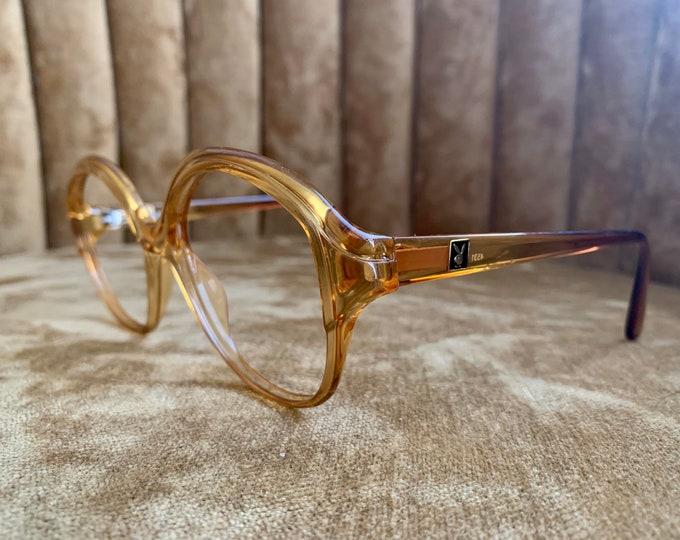 Vintage 70's Playboy Optyl Amber Logo Glasses Frames