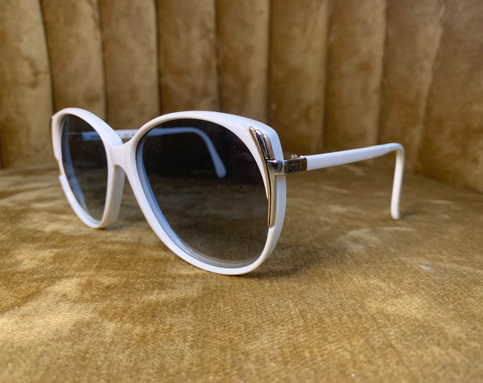 Vintage 70's Givenchy White & Gold Sunglasses