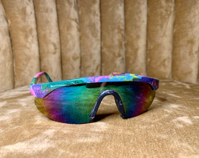 Vintage 90's Childrens's Multicolored Mirrored Sports Goggles Sunglasses