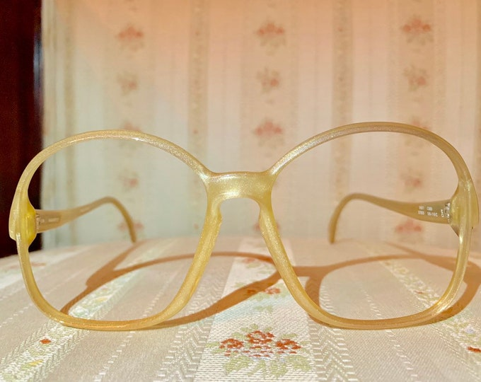 Vintage 70's Zeiss Marwitz Gold Iridescent Glasses Frames