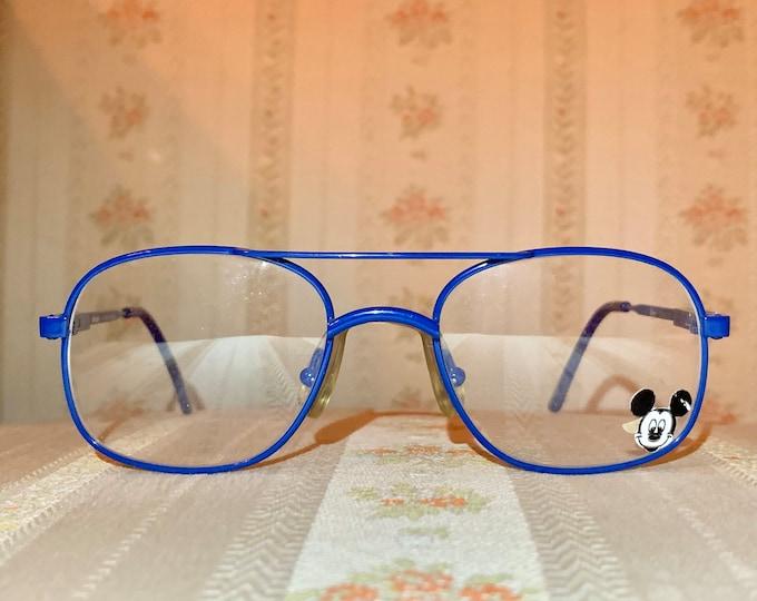 Vintage Disney NOS Mickey Blue Aviator Children's Frame/Glasses