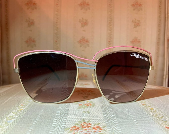 Vintage 80's Metal Wired Modern Gavonni Aviator Sunglasses