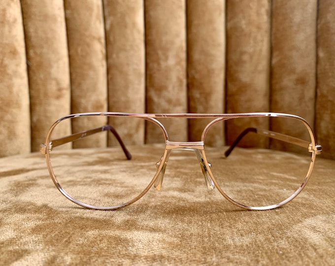 Vintage 70's Gold Aviator Frames Glasses