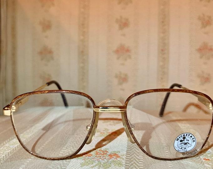 Vintage Disney NOS Mickey Tortoise Shell Gold Children's Frame/Glasses
